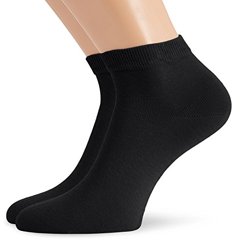 Hudson Herren Sneaker Socken, 024481 Only, 2er Pack, Gr. 43/46, Schwarz (Black 0005)