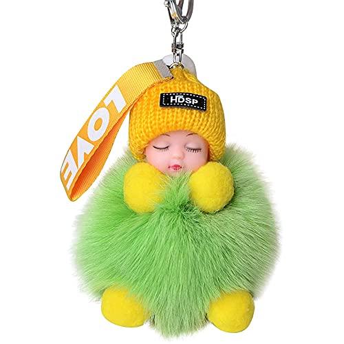 """Schlüsselanhänger Schutzengel - """"Love Haarball Schlafpuppe Autoschlüssel Tasche Schnalle - 11cm Kuscheltieranhänger mit Schlüsselring für Schlüsselband, Schlüsselbund & Schlüsselhalter"""