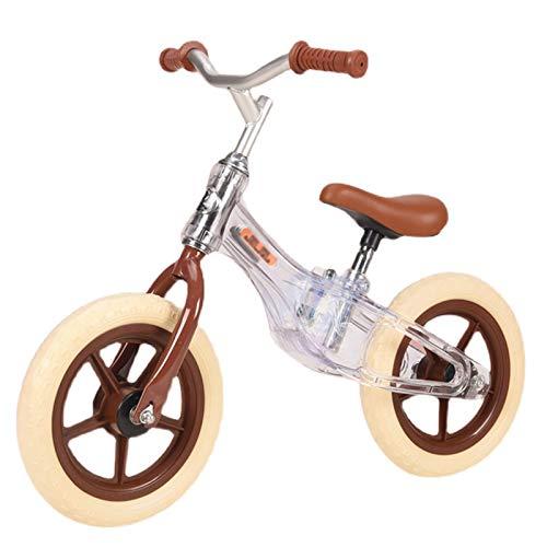 ERLAN Bicicletas sin Pedales Sin Pedal Destello Bicicleta de Equilibrio Niños de 2 a 6 Años Bicicletas para Caminar para Niños y Niñas Pequeños, Bicicleta Deportiva Ligera con Ruedas de 12 Pulgadas