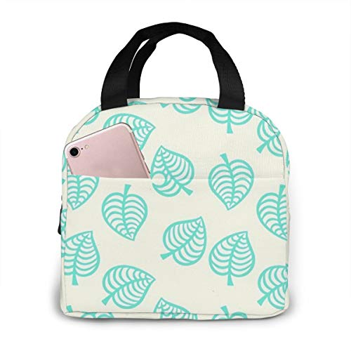 Animal Crossing Leaves Leak Proof and Reusable refrigerated Lunch Bag - Durable Compact Office School Lunch Box for Women, Men and Children