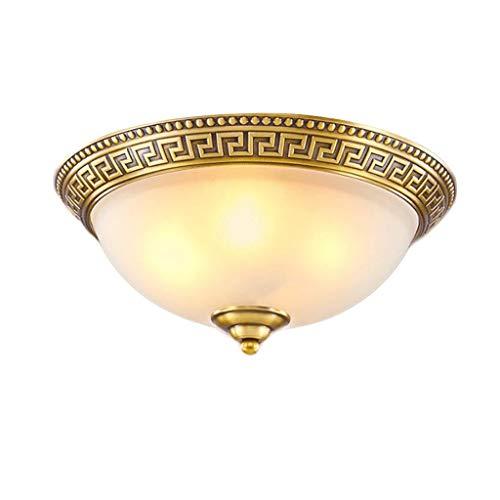 Handig voor huishouden, plafondlamp, van koper voor slaapkamer, balkon, hal, ingang, woonkamer, eenvoudige verlichting en trendy. 37 centimetri * 16