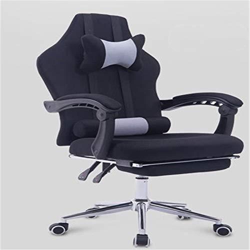 Chyuanhua Gaming Chair Computerstuhl Home Office Chair Ergonomische Recliner Fußstütze Schwenkstuhl Mesh Gaming Stuhl Geeignet für Büroangestellte (Farbe : Black, Size : One Size)
