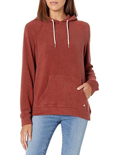 Volcom Junior's Lil Hoodie Hooded Sweatshirt, Brick, Large
