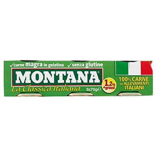 Montana Carne Magra in Gelatina, 3 x 70g