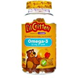 L'il Critters Omega-3 Gummy Fish Assorted Flavors - 120 ct, Pack of 2