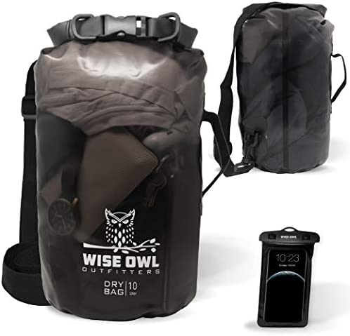 Wise Owl Outfitters Dry Bag Thick Durable Waterproof Bags Fully Submersible See Through Roll product image