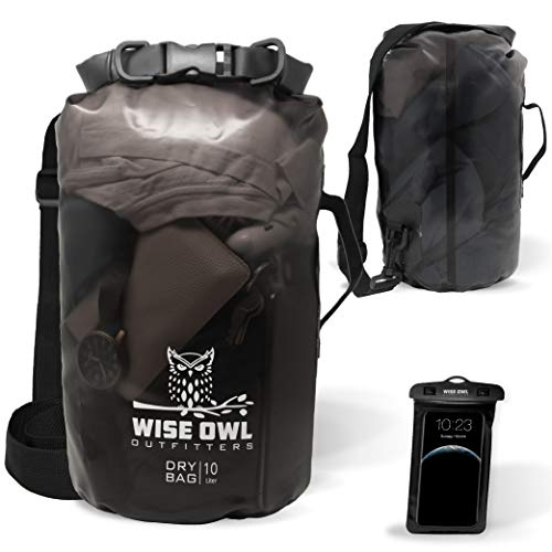 Wise Owl Outfitters PVC Dry Bag Black 5L