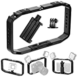 XT-XINTE Metal Handheld Phone Camera Stand Video Interview Stabilizer Camera Rabbit Cage