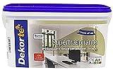 Gdm Supertranspirable, pintura al agua óptima para ambientes interiores, color blanco, 4 l