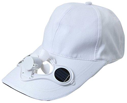 Y-BOA – Casquette Visière Avec Mini Ventilateur Solaire – Homme/ Femme Modern - Chapeau Voyage Sport/Golf/ Baseball (Blanac)