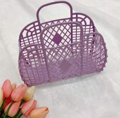 Zoharm Sommertasche, kleine Erfrischung, super heiße Tasche, tragbarer Gemüsekorb, hohl, Gelee-Beutel, große Kapazität, Urlaubspaket für Mädchen