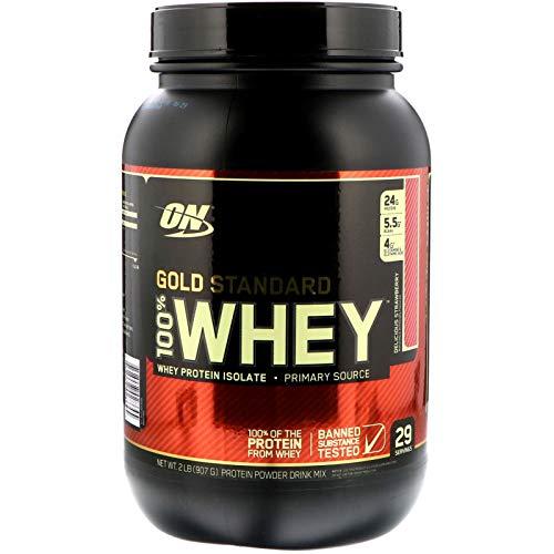 100% WHEY PROTEIN GOLD STANDARD (907G) - OPTIMUM NUTRITION - Morango