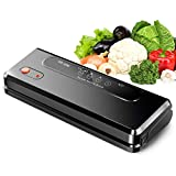 Vacuumizer Fully Automatic Vacuumer for Food, 12.6 Inch Heating Wire Length / 3 Mm Wide, Dry and Wet Double Use (External Vacuum Function) Foil Welder,Black