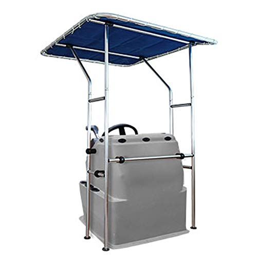 """Summerset T-Top Tower Bimini Shade Center Console Boat Cover Frame and Canvas - UV Rated Marine Canvas - 68"""" L x 56"""" W x 79"""" H"""