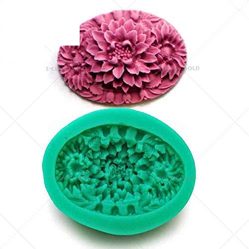 DACCU DIY siliconen vormen voor het decoreren van fondant suiker chocolade zoetwaren vlokken zeep mini bloem stijl snoepgoed vormen F0422HM35