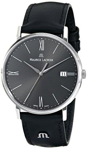 Maurice Lacroix EL1087-SS001-810 Eliros Reloj analógico de Cuarzo Negro para Hombre