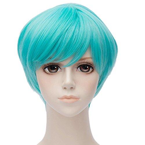 QIYUN.Z Fantaisie Perruques Cosplay Parti D'Anime Court Femmes Cheveux Pleins Resistant Costume Coupe De Cheveux