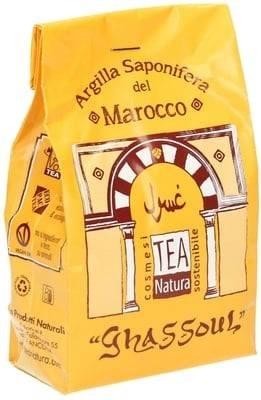 TEA NATURA Arcilla Ghassoul - Para el cuerpo y el cabello - Deja la piel suave - Reduce la formación de sebo - Elimina las células muertas - 350 gr