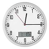 Orologio da parete, orologio da parete multifunzionale con visualizzazione della temperatura della data Orologio da parete grande per la decorazione della camera da letto della scuola dell'home office