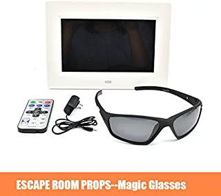 Escape Room Prop Magic Glasses Use Amazing Glasses to Find Invisible Clues Secret Chamber Room Magic Prop for Exit Room Owner