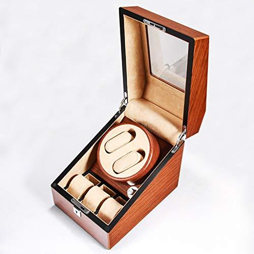 YF Caja de Reloj Enrollador de Reloj Automático con 2 Posiciones Enrollador Reloj y 3 Espacios Almacenamiento Pantalla para Relojes de Hombre y Mujer como un Regalo