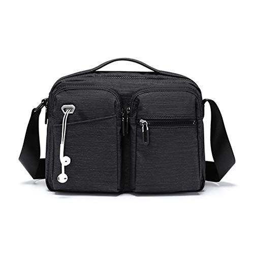Borsa a tracolla Suvelle Tramp Travel Crossbody Bag Borsa A Tracolla Diagonale Giornaliera Maschile Da Uomo ZAHOFENGE (Color : Black, Size : 20 * 9 * 28cm)