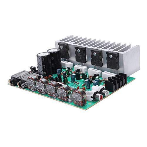 Andylies Placa del Amplificador De Audio Amplificador De Potencia De ReverberacióN Digital De Alta Fidelidad 250 W X 2 2.0 Preamplificador De Audio Trasera con Control De Tono E3-004