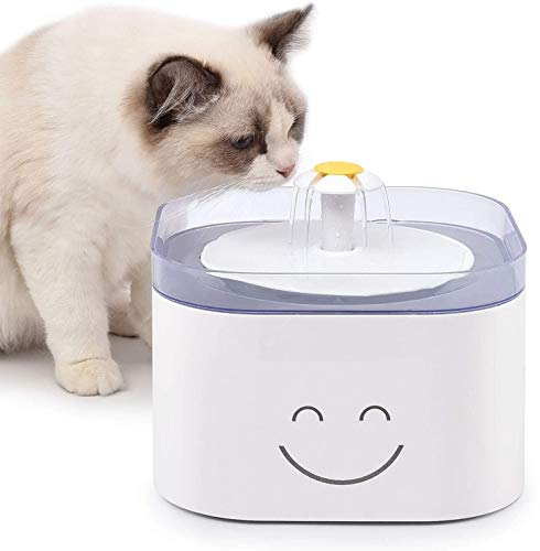 Jnwayb B92 Fuente de Agua Automática para Mascotas, Bebederos Mascotas. Dispensador de Agua para Perros y Gatos, 2.5L