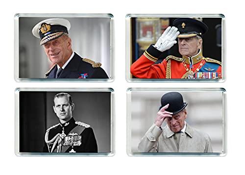Set of 4 Prince Philip Jumbo Imán para Nevera Caribbean Travel Fridge Magnets - 001