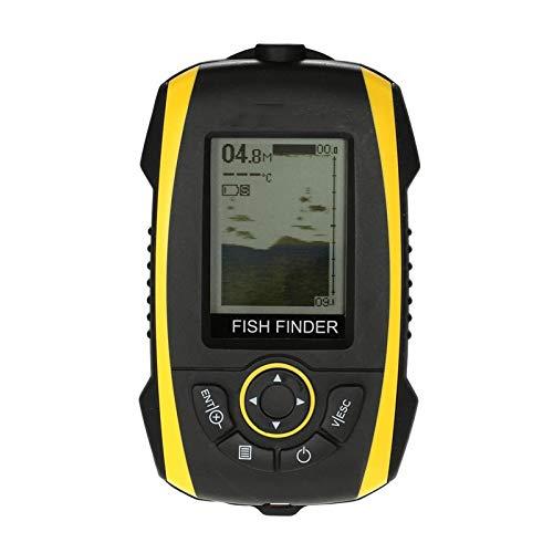 QCHEA Finder portátil Pescado LCD Mostrar Sonar Sensor Transductor Fishfinder Fish Alarma Profundidad Indicador Pesca Finder Al Aire Libre Equipo de la Herramienta de Pesca