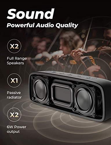 Altavoz Bluetooth Tribit XSound Surf, Altavoces de 12 W Inalámbricos Bluetooth con un sonido superior, Bluetooth 5, Impermeable IPX7, Emparejamiento estéreo, Alcance de 100 pies