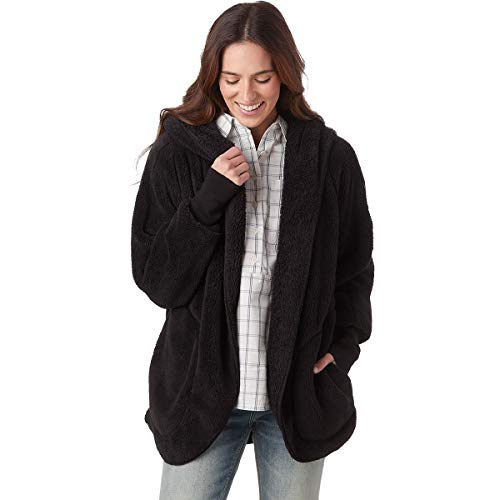 Dylan by True Grit Dream Pile Oversized Cozy Jacket Black MD