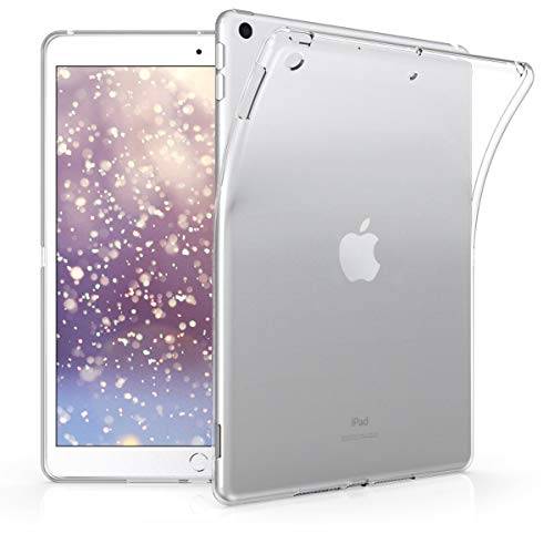 kwmobile Hülle kompatibel mit Apple iPad 10.2 (2019) - Silikon Tablet Cover Hülle Schutzhülle Transparent