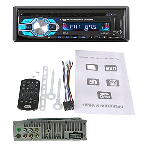 GOFORJUMP 1 DIN 12V Coche DVD Reproductor de CD Vehículo MP3 Estéreo...