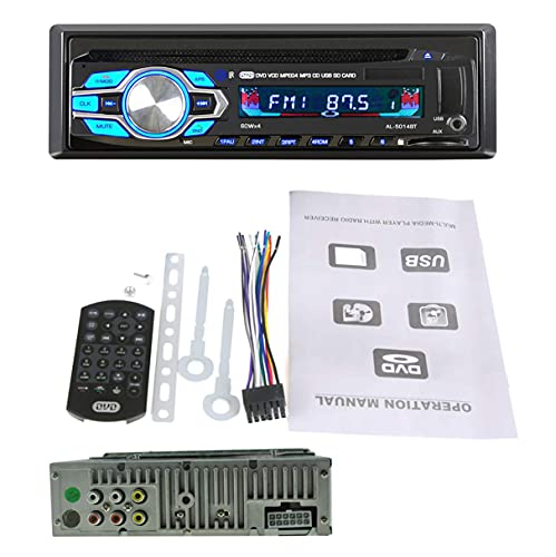 GOFORJUMP - Autoradio Stereo per Auto, 1 DIN, 12 V, Lettore CD, MP3, autoradio BT Audio Radio 5014
