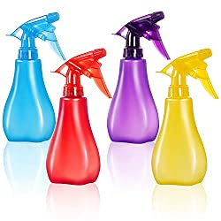 Image: GTANG Pack of 4-8 Oz Empty Plastic Spray Bottles - Attractive Vibrant Colors - Multi Purpose Use Durable BPA Free, Empty Spray Bottle with Adjustable Nozzle for Beauty, Gardening, Kitchen, and Bathroom