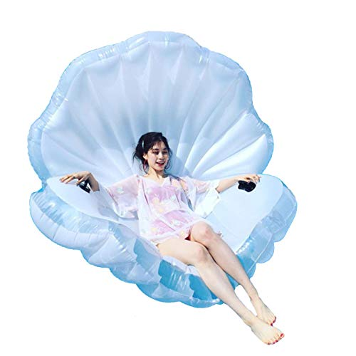 XINYU Inflatable Float Swimming Aids Pool Giant Shell Swim Floaties Animal Bird Ride Floating Boat Summer Lounger Raft Beach Toys Outdoor for Adults & Children White 67 x 51 x 39inch