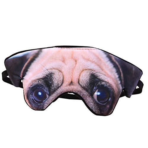 Supvox Máscara ocular cubierta con los ojos vendados máscara de la noche el dormir para el perro casero del viaje 3D (Pug)