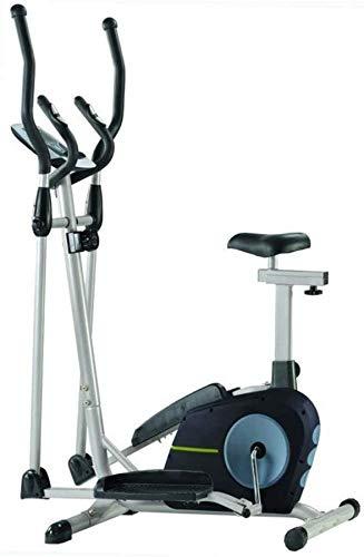 Wghz Entrenador elíptico, máquina de Entrenamiento Cardiovascular para Entrenamiento de acondicionamiento de Fuerza física con Monitor LCD, Interior en casa o Gimnasio, Interior, hogar, máquina d