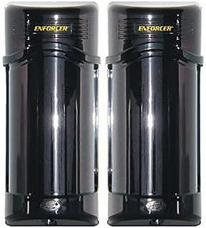 SECO-LARM E-960-D190Q Enforcer Twin Photobeam Detectors with Laser Beam Alignment, 190' Outdoor/390' Indoor Sensing Range, Non-polarized Power Onputs, Pack of 1 Including 2 Detectors
