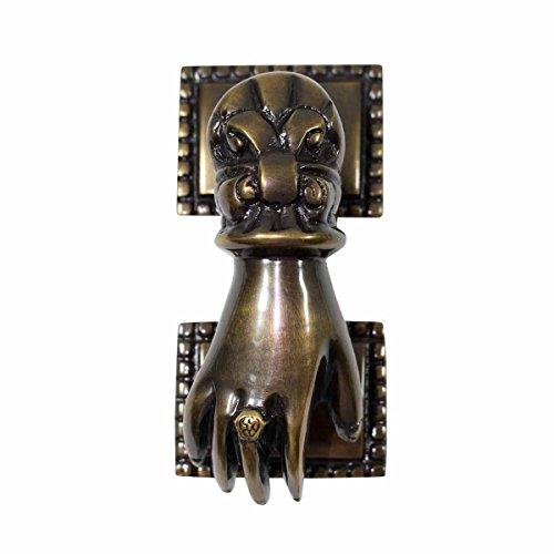 Antique Brass Victorian Door Knocker Ladies Woman Hand 4'H   Renovator's Supply