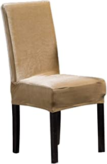 Vosarea Chair Cover Elastic Dining Chair Cover Conjoined Thicken Chair Cover Chair Protector