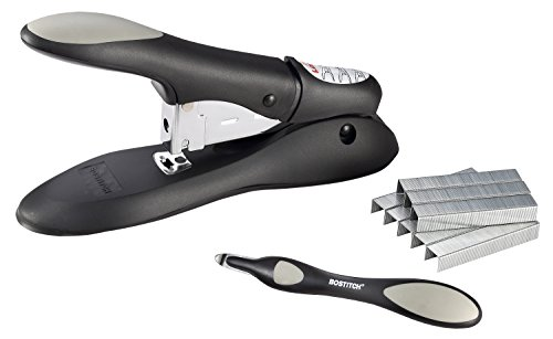 Bostitch Personal Heavy Duty No-Jam Stapler Value Kit, 60 Sheets, Includes Push-Style Staple Remover, Black (PHD-60R)