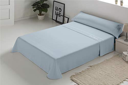 Pierre Cardin - Juego de sábanas Arcadia 100% Algodón - Cama 105 - Color Azul