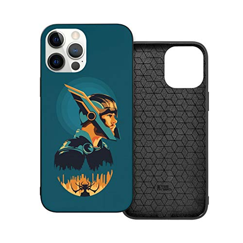 VOROY Superhero-Thor A-P-P-L-E - Carcasa para iPhone 12, color cian