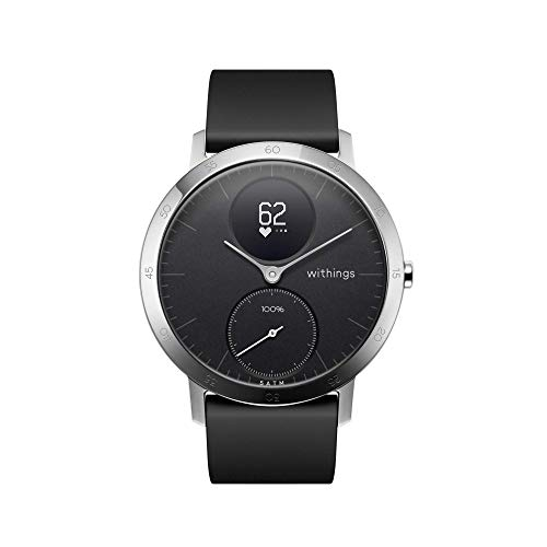 Withings Steel HR Reloj inteligente, Unisex Adult, Negro, 36 mm