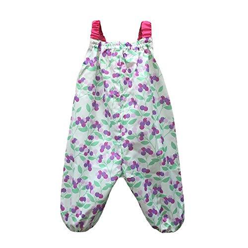 【marle pawda】子ども用 プレイウェア (お砂場着) 日本製 レインウェア にも 収納袋付き 【チェリー】 90�p ギフト お祝い 入園 公園などのお出かけにも