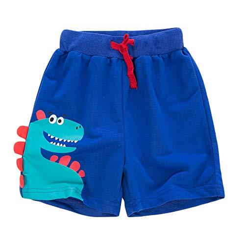YJWFHPU Boys Dinosaur Shorts Cotton Blue Trunks Boardshorts for Little Boys 2 7 Years