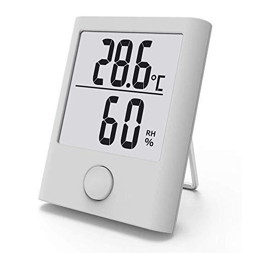 CWC Präzisee Innenthermometer, Hygrometer, Thermometer und Hygrometer mit LCD-Bildschirm und Gesicht Icons