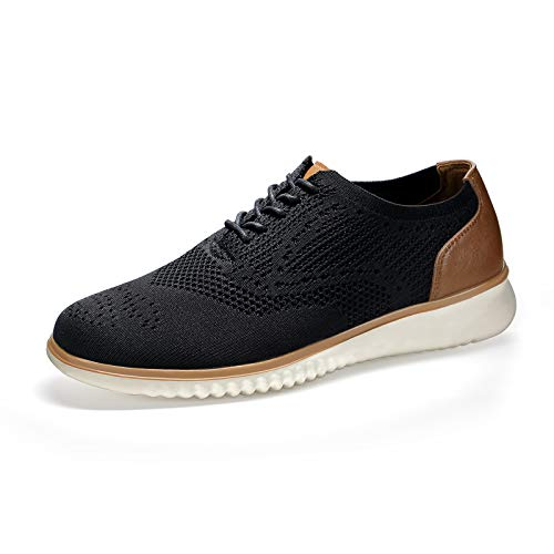 SEVEGO Men's Knit Mesh Sneakers Oxfords, Comfort Casual Dress Shoes, Lightweight Breathable...